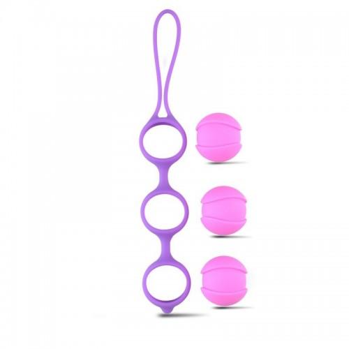 Вагинални топчета от мед. силикон Bi-Balls Triple [3]