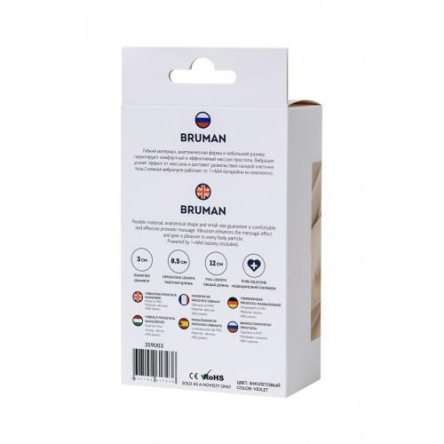 Вибриращ простатен стимулатор от силикон Bruman  [8]