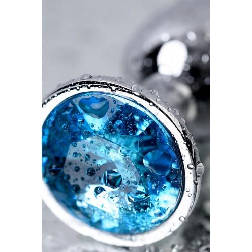 Малък метален разширител-бижу със син топаз Toyfa [8]