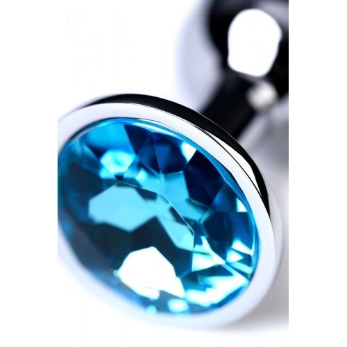 Малък метален разширител-бижу със син топаз Toyfa [4]
