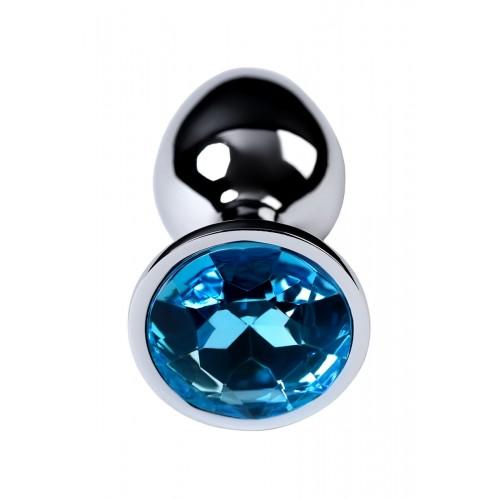 Малък метален разширител-бижу със син топаз Toyfa [1]