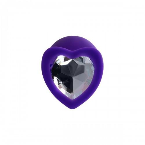 Анален разширител от силикон с кристал-сърце Diamond Heart лилав S [1]
