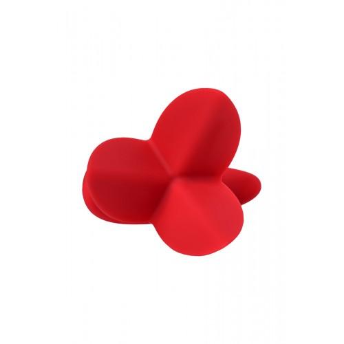 Разширяващ се анален плъг от силикон Flower червен [2]