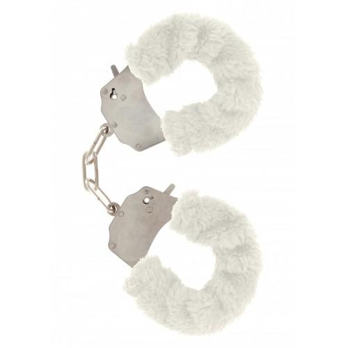 Масивни белезници с пух Furry Fun бели