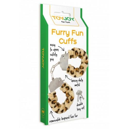 Масивни белезници с пух Furry Fun леопард [3]