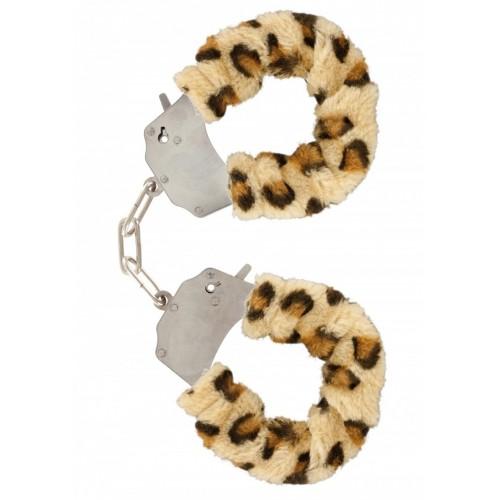 Масивни белезници с пух Furry Fun леопард