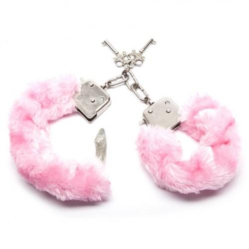 Масивни белезници с пух Furry Fun розови [1]